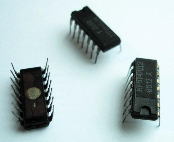 Микросхемы дешифратора сегментного индикатора