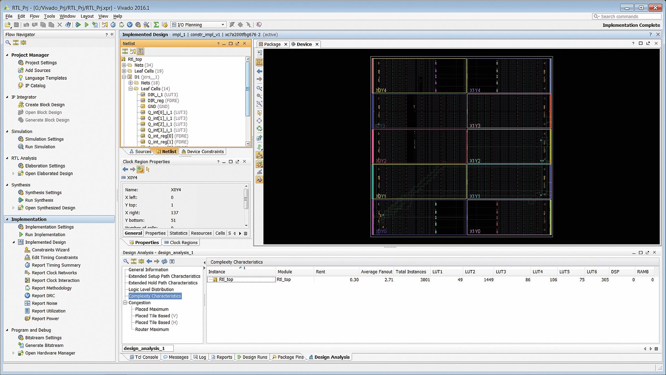 Отображение информации об уровне сложности проекта, реализованного в ПЛИС или программируемой системе на кристалле