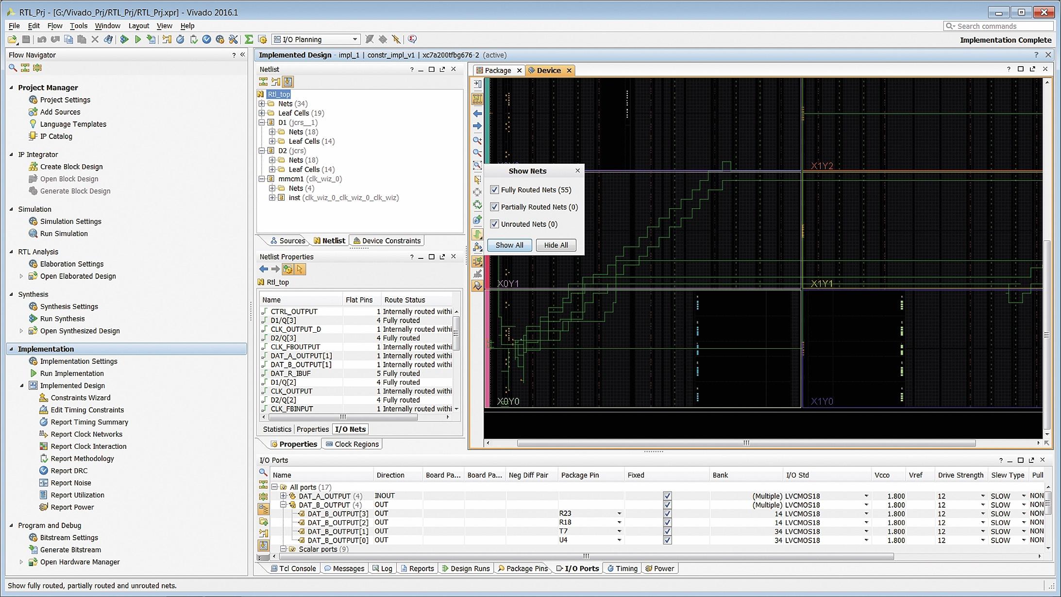 Отображение трассировки цепей проектируемого устройства в кристалле программируемой логики или расширяемой процессорной платформы