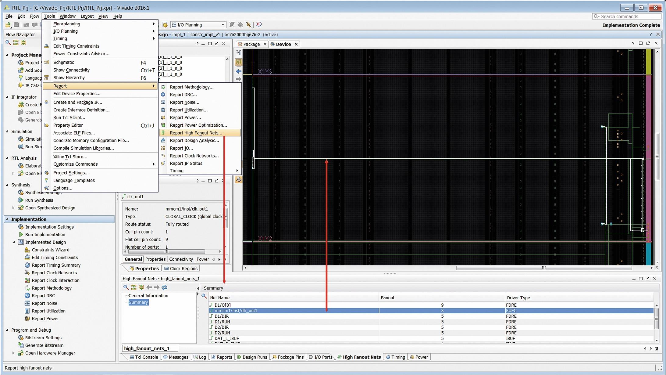 Анализ результатов трассировки цепей проектируемого устройства с большим количеством разветвлений
