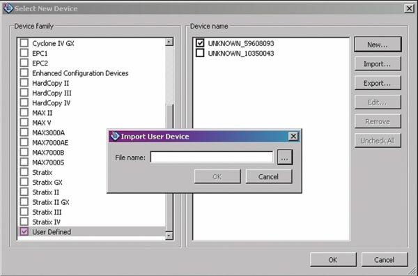 Импорт файла описания микросхемы