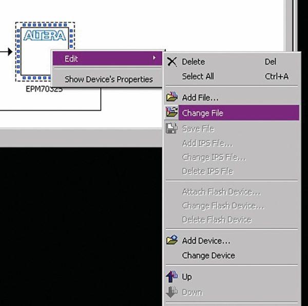 Открытие диалога загрузки конфигурационного файла