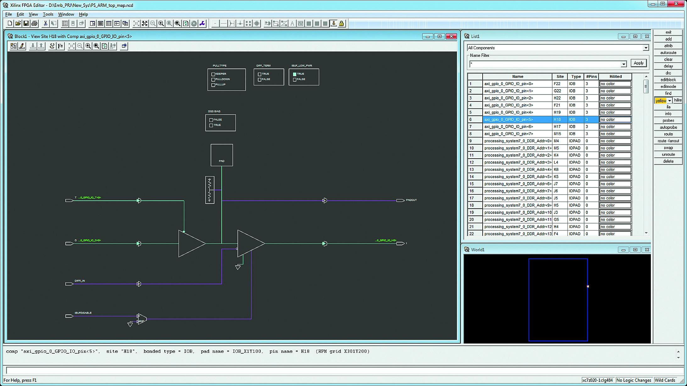 Конфигурирование блоков ввода/вывода аппаратной части проектируемой системы