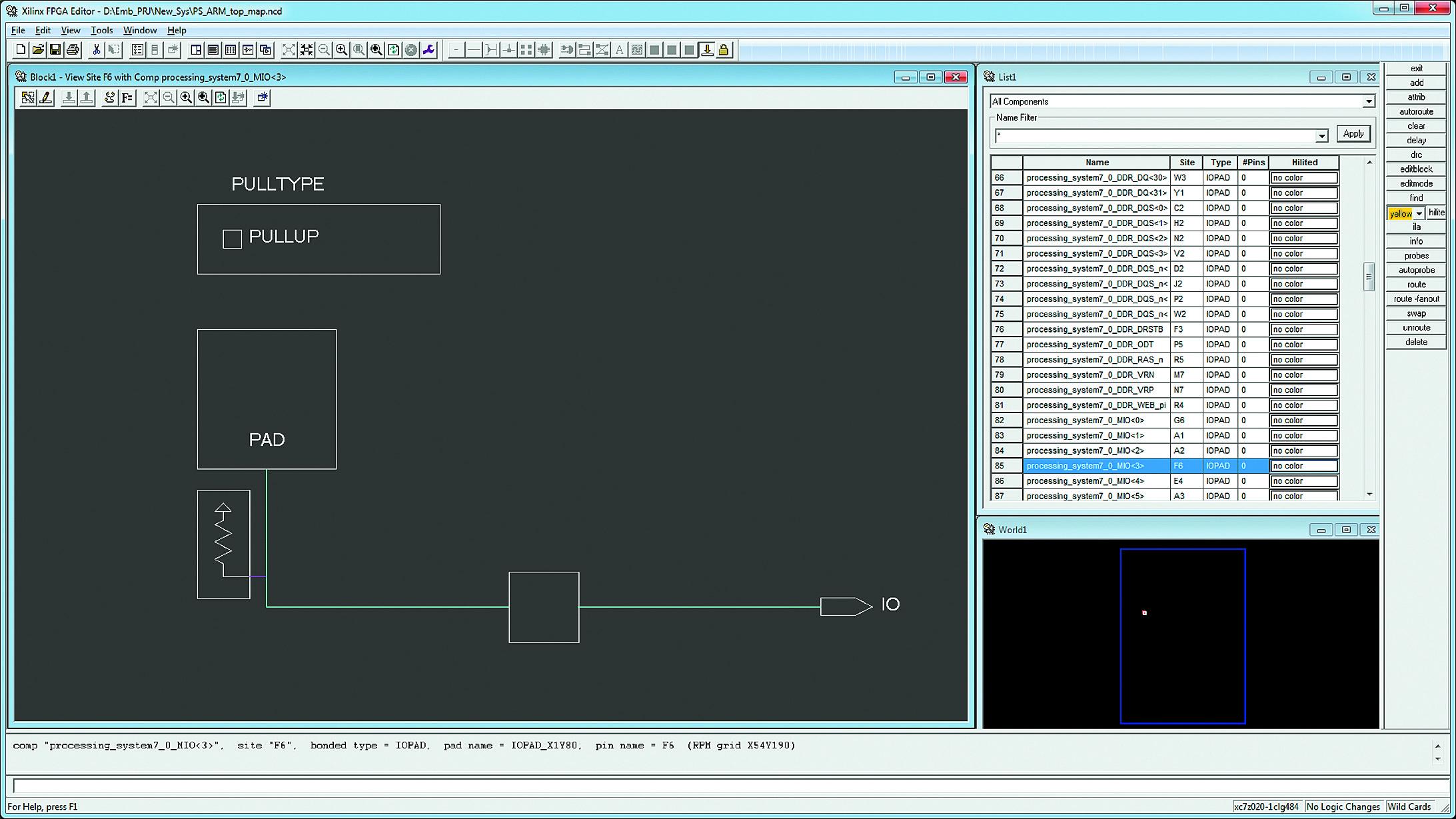 Конфигурирование мультиплексируемого входа/выхода процессорного блока