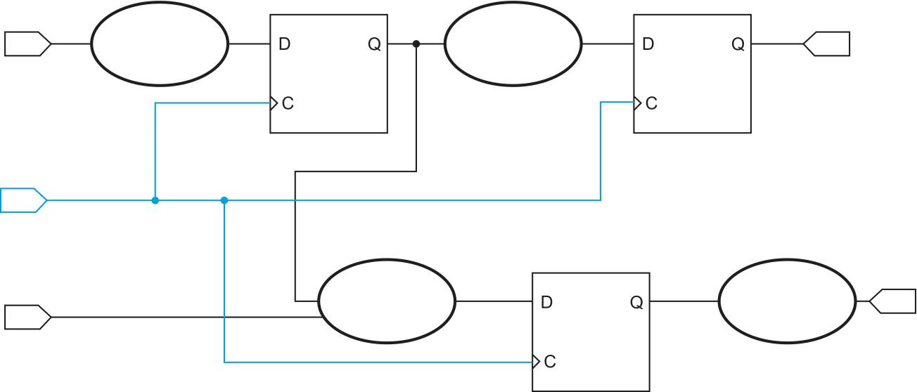 Синхронная цифровая схема на уровне регистровых передач