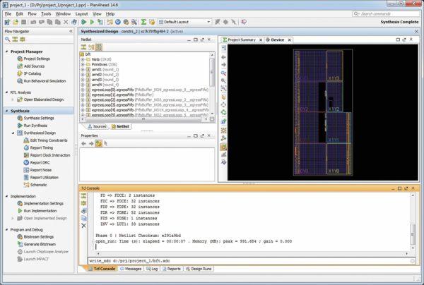 Преобразование файлов временных и топологических ограничений проектов в среде PlanAhead