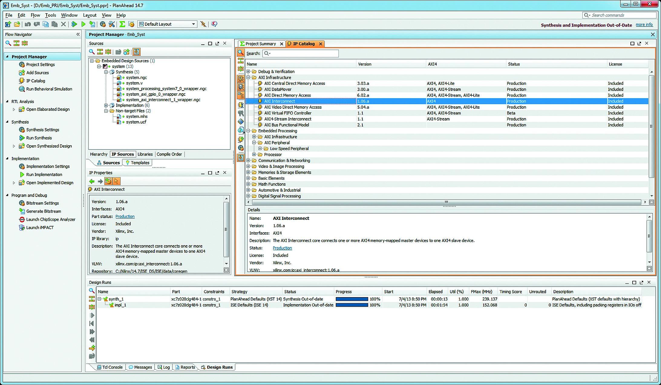 Разработка встраиваемых микропроцессорных систем в среде PlanAhead Design and Analysis Tool