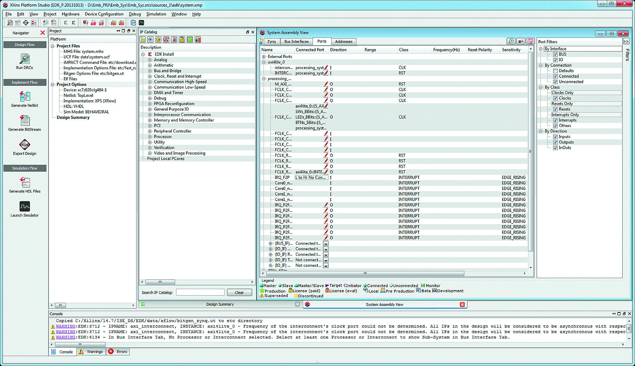 Разработка аппаратной платформы встраиваемых микропроцессорных систем в среде XPS