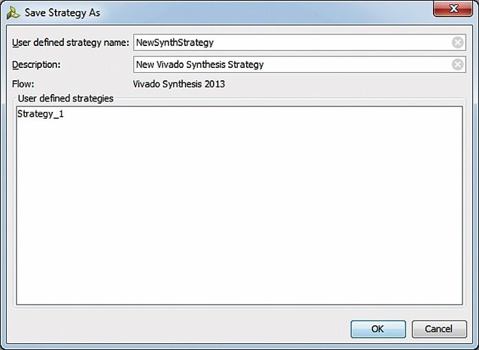 Сохранение модифицированной стратегии синтеза импортированного проекта