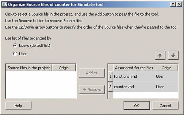 Организация исходных файлов для моделирования