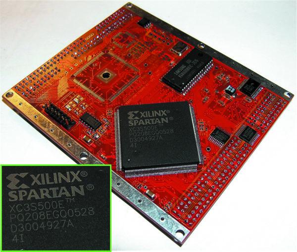 Плата с инженерным образцом ПЛИС Spartan 3E