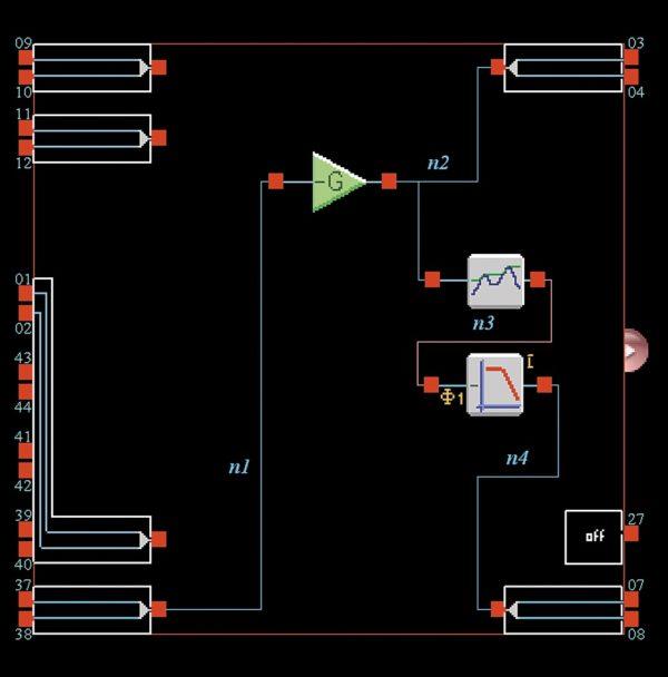 Схема АРУ на базе ПАИС Anadigm AN221E04