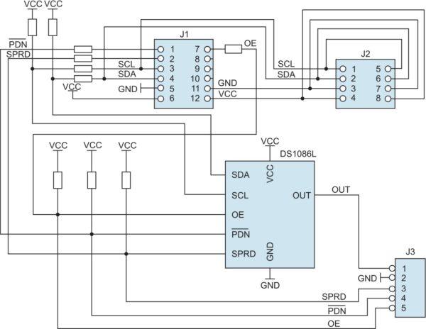 Структурная схема модуля расширения DS1086LPMB1