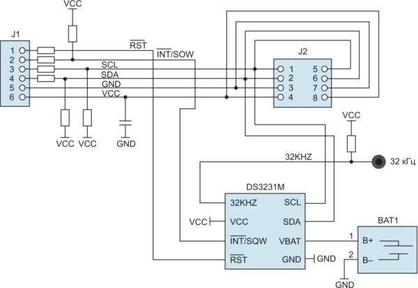 Структурное представление архитектуры периферийного модуля DS3231MPMB1
