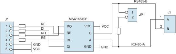 Структурная схема модуля расширения MAX14840PMB1