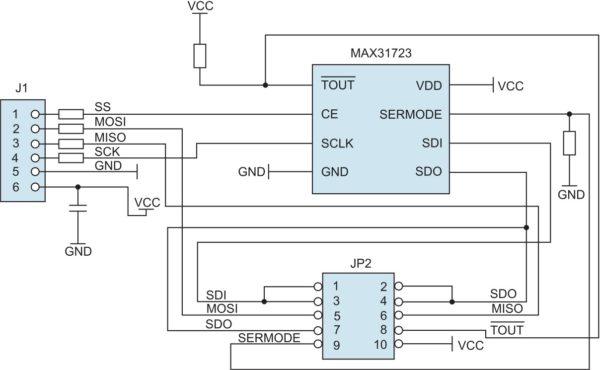 Структурная схема модуля расширения MAX31723PMB1
