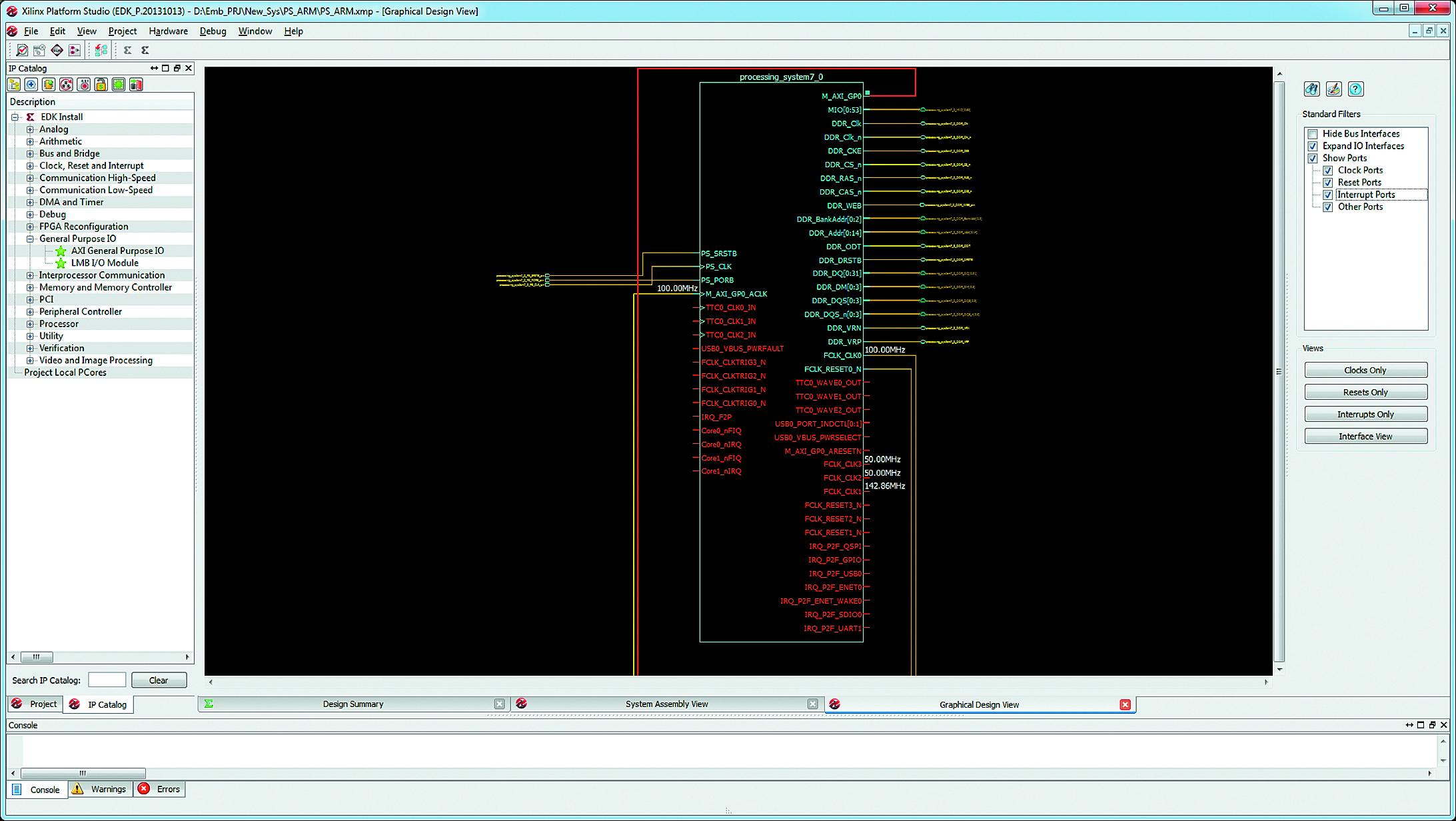 Вид страницы Graphical Design View основного окна средств XPS