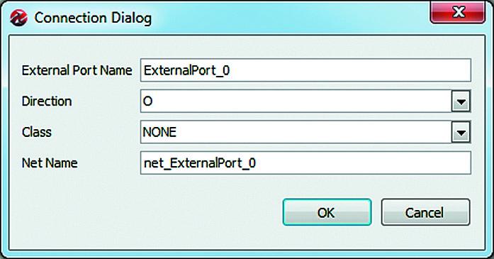 Вид диалоговой панели создания описания нового внешнего порта